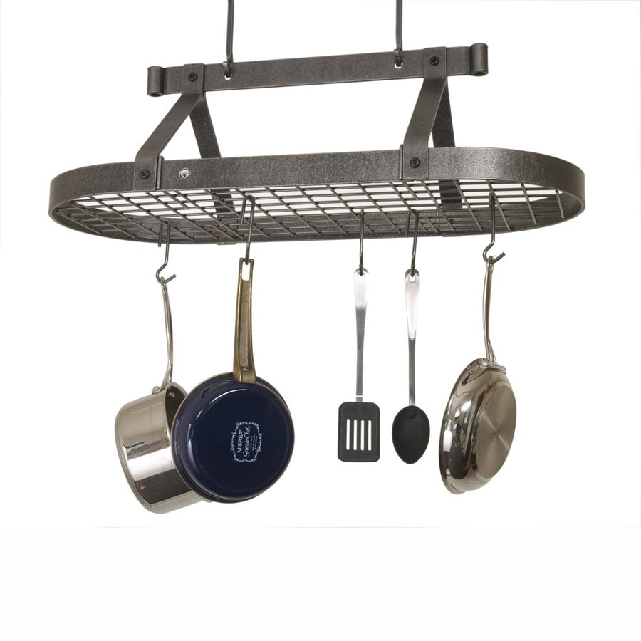 Enclume 17-in x 36.5-in Gray Oval Pot Rack