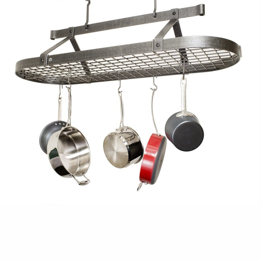 Enclume 17-in x 48-in Gray Oval Pot Rack