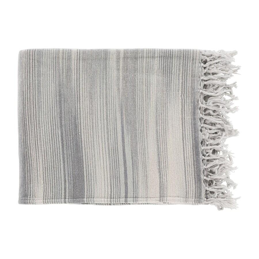 Surya Tanga Gray 60-in L x 50-in W Cotton Throw