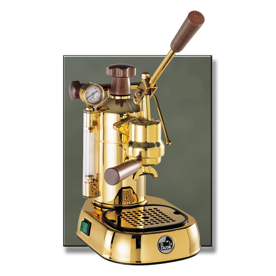 shop la pavoni gold infused copper manual espresso machine. Black Bedroom Furniture Sets. Home Design Ideas