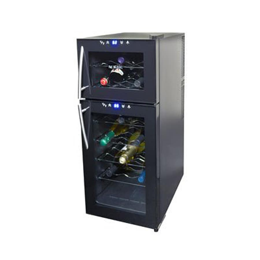 newair 21bottle black dual zone cooling wine chiller