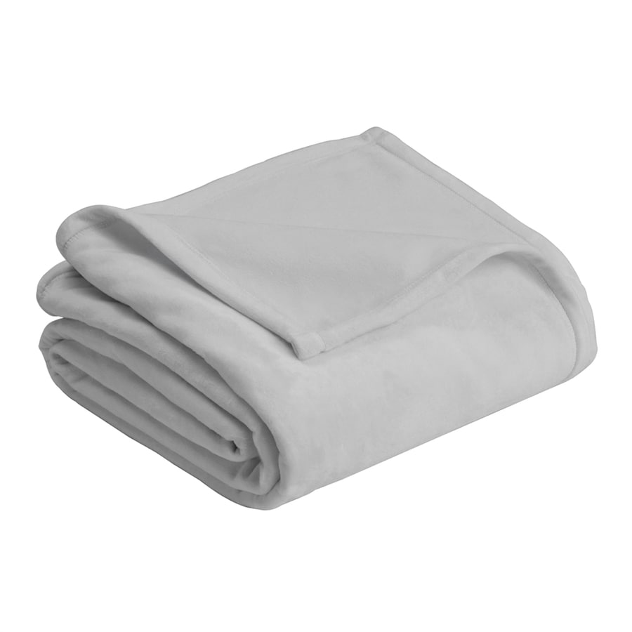 Vellux by WestPoint Home Micro Mink Gray 90-in L x 90-in W Polyester Blanket
