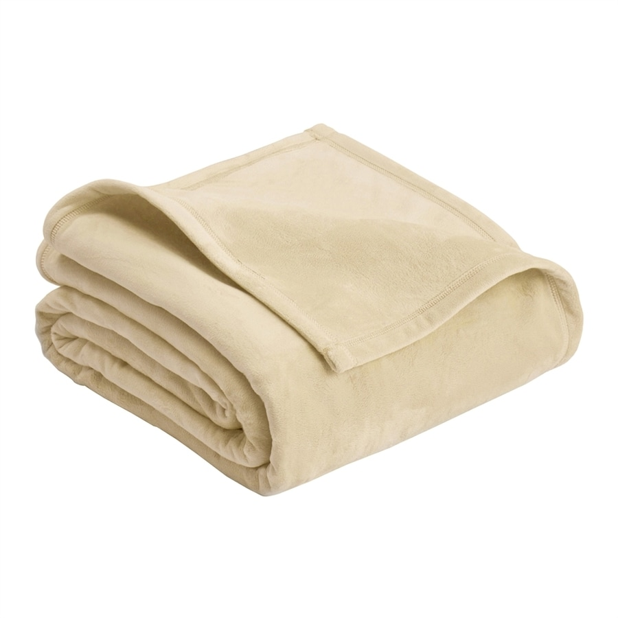 Vellux by WestPoint Home Micro Mink Cream 108-in L x 90-in W Polyester Blanket
