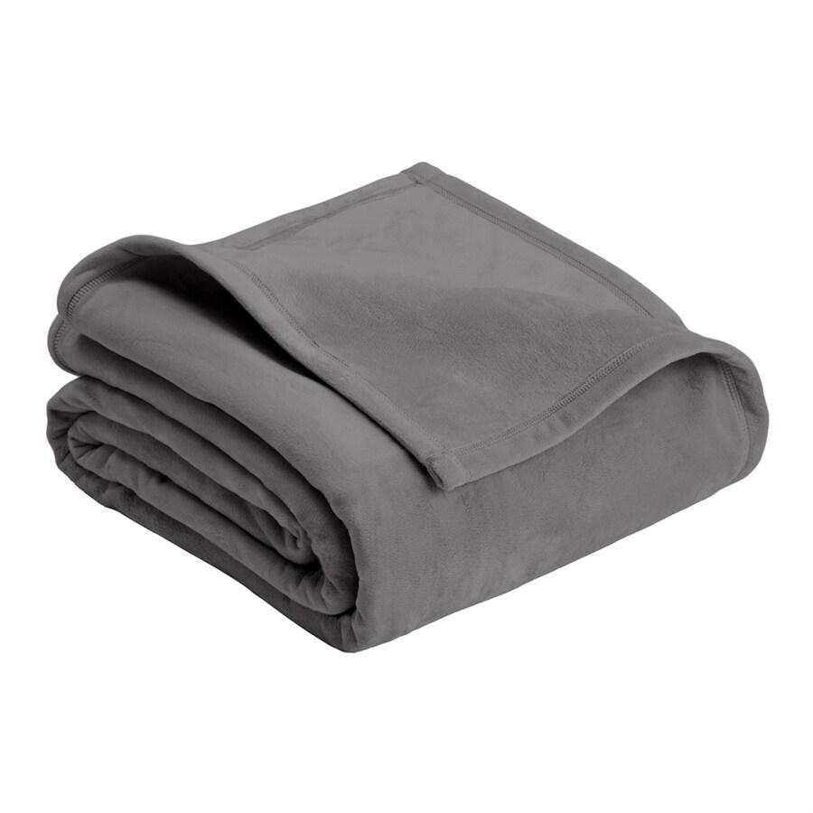 Vellux by WestPoint Home Micro Mink Tornado Grey 90-in L x 66-in W Polyester Blanket