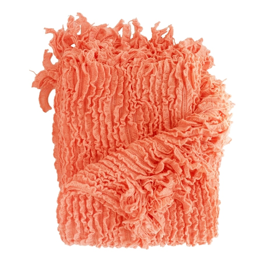 Woven Workz Charlotte Coral 70-in L x 50-in W Acrylic Throw
