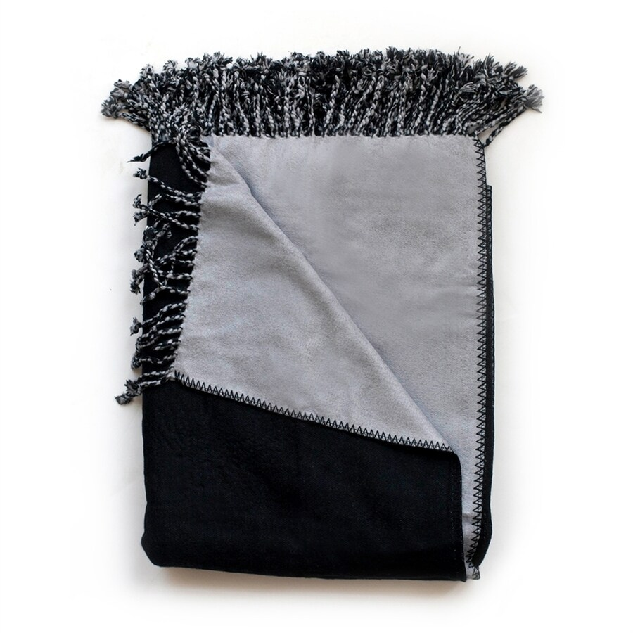 Woven Workz Bonnie Charcoal/Slate 70-in L x 50-in W Throw