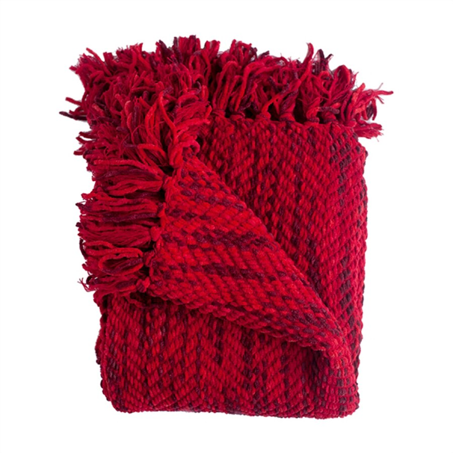 Woven Workz Bella Cherry 70-in L x 50-in W Polyester Throw