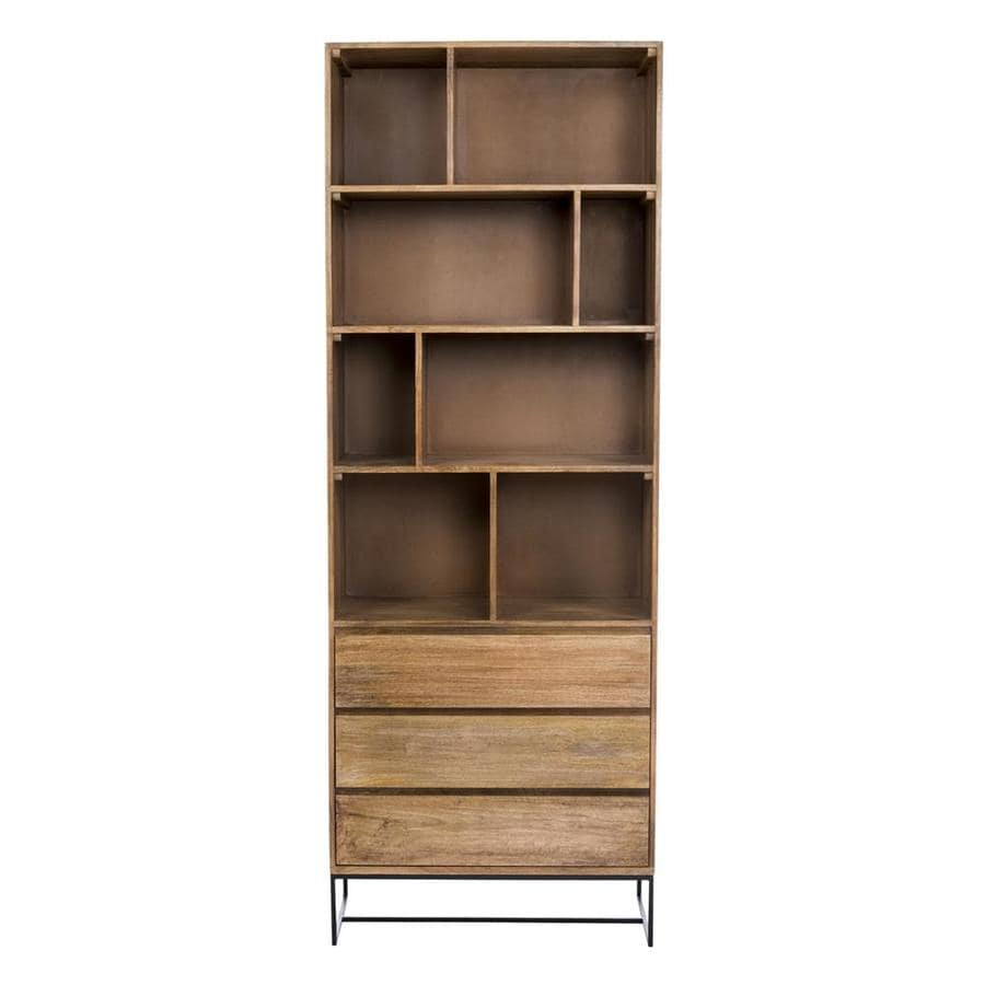 Moe's Home Collection Colvin Natural Mango Metal 5-Shelf Bookcase