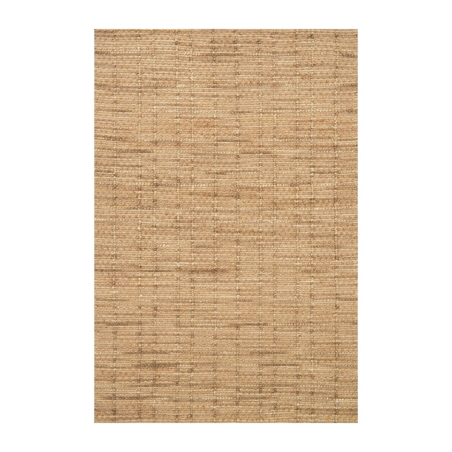 Loloi Beacon Natural Rectangular Indoor Handcrafted Coastal Area Rug (Common: 7 x 9; Actual: 7.75-ft W x 9.75-ft L)
