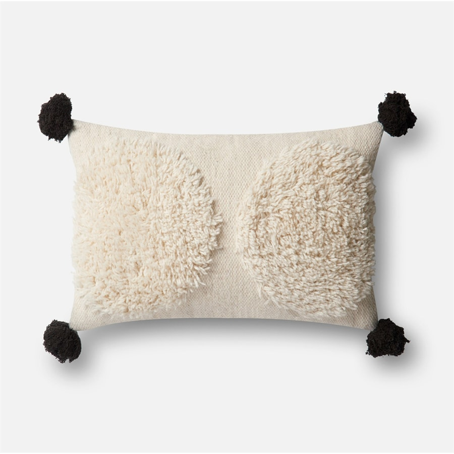 Loloi 13-in W x 21-in L Ivory Indoor Decorative Pillow