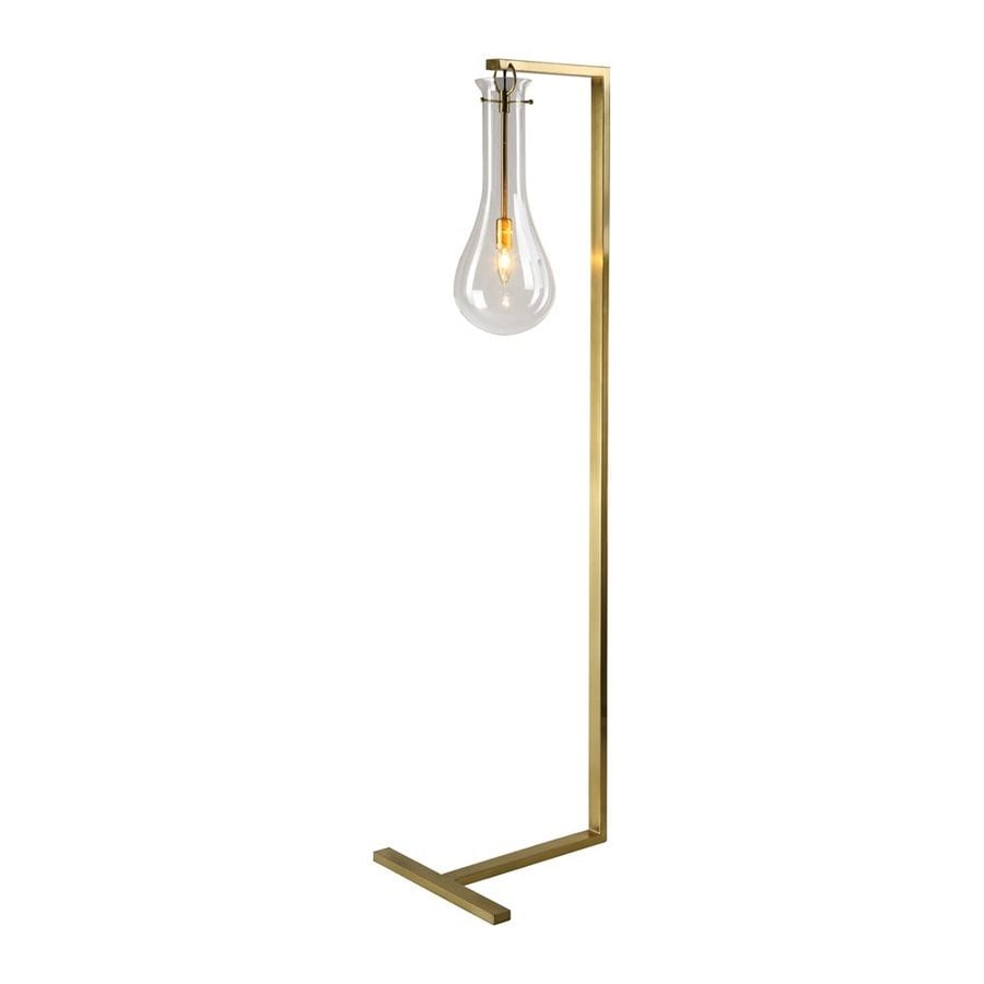 Shop bethel international 63 in antique brass downbridge floor lamp bethel international 63 in antique brass downbridge floor lamp with glass shade aloadofball Images