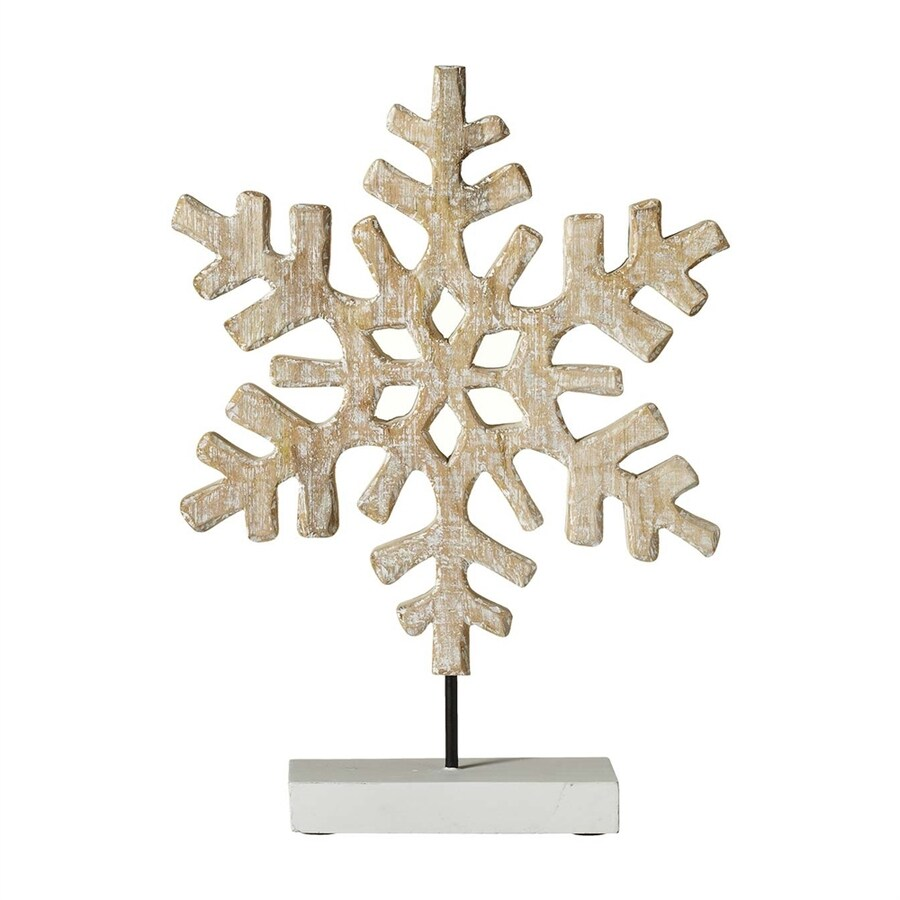 Midwest CBK White Snowflake Tabletop Decoration At Lowes