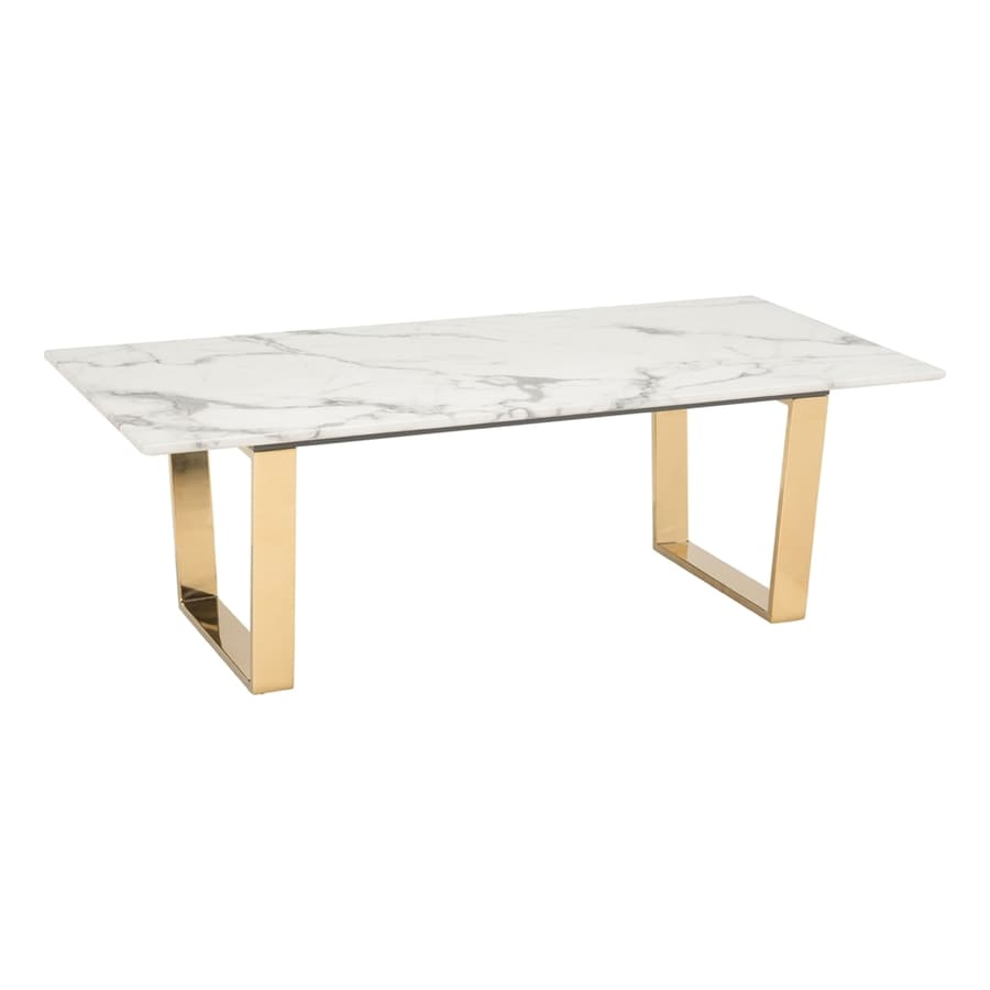 Faux White Marble Coffee Table Set: Zuo Modern Atlas Faux Marble Coffee Table At Lowes.com
