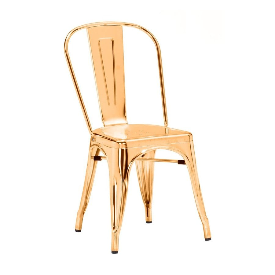 Zuo Modern Set of 2 Elio Gold Side Chairs