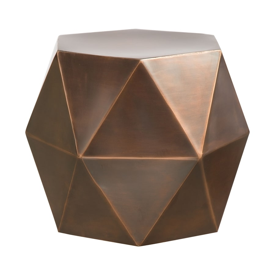 Zuo Modern Chester Antique Copper Metal Modern End Table