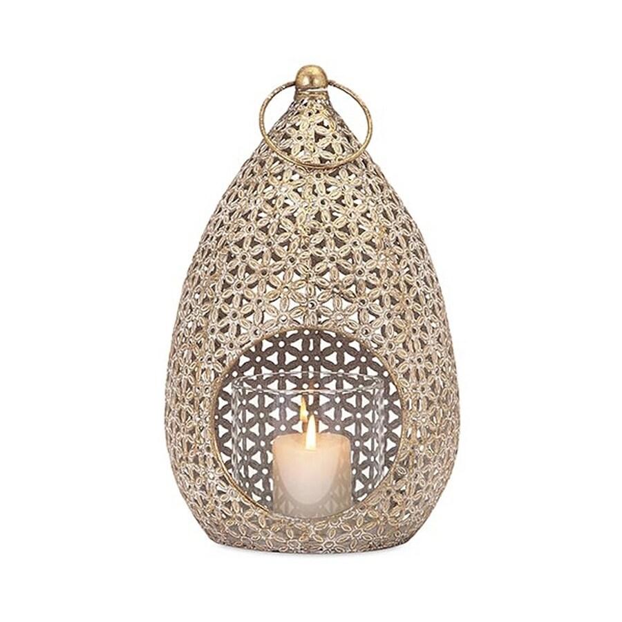 Imax Worldwide 1 Candle Gold Metal Lantern Candle Holder