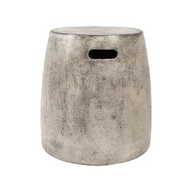 Dimond Home 18.1 In Polished Concrete Barrel Garden Stool