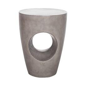 Delicieux Moeu0027s Home Collection Aylard 18 In Gray Cement Barrel Garden Stool