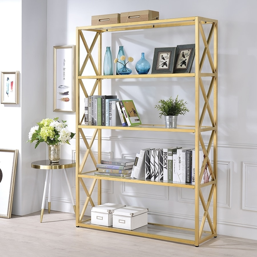 bookcase glass storages photos clear acme gold blanrio gallery furniture of explore recent to with accent and attachment bookcases regard showing etagere