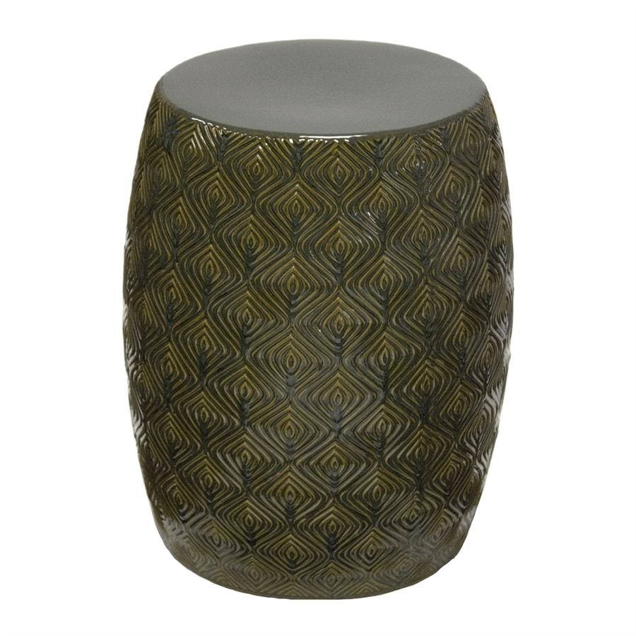 Shop Sagebrook Home 17 7 In Green Ceramic Barrel Garden