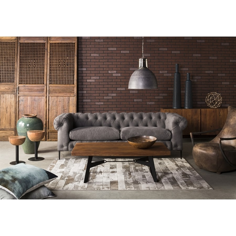 Moe's Home Collection Canal Midcentury Light Gray Sofa