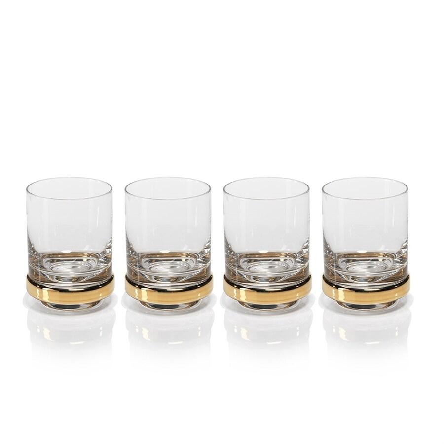 Zodax Artu 4-Pack Gold Drinking Glasses