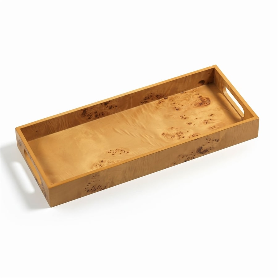Zodax Manik 17-in x 7-in Honey Wood Rectangle Serving Tray