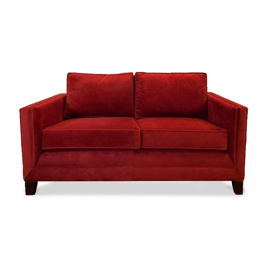 South Cone Home Cannes Red Velvet Loveseat