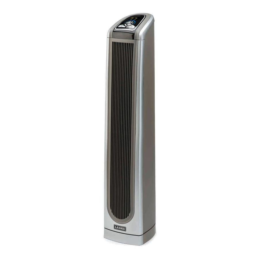 Lasko 5115-BTU Ceramic Tower Electric Space Heater with Thermostat Energy Saving Setting