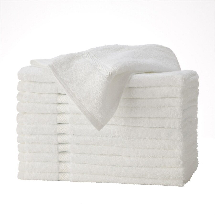 Martex by WestPoint Home 30-in x 16-in White Cotton Hand Towel