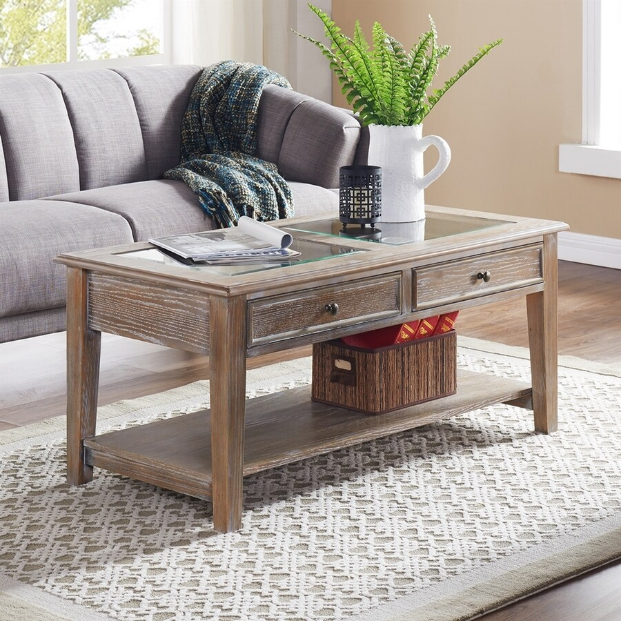 Shop Boston Loft Furnishings Orville Clear Glass Rectangular Coffee Table At