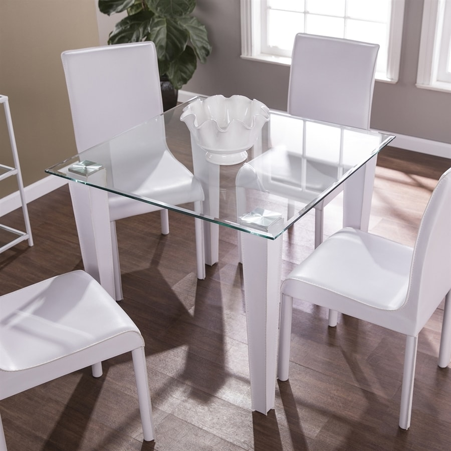 Boston Loft Furnishings Pacha Clear Glass Square Fixed Standard Table
