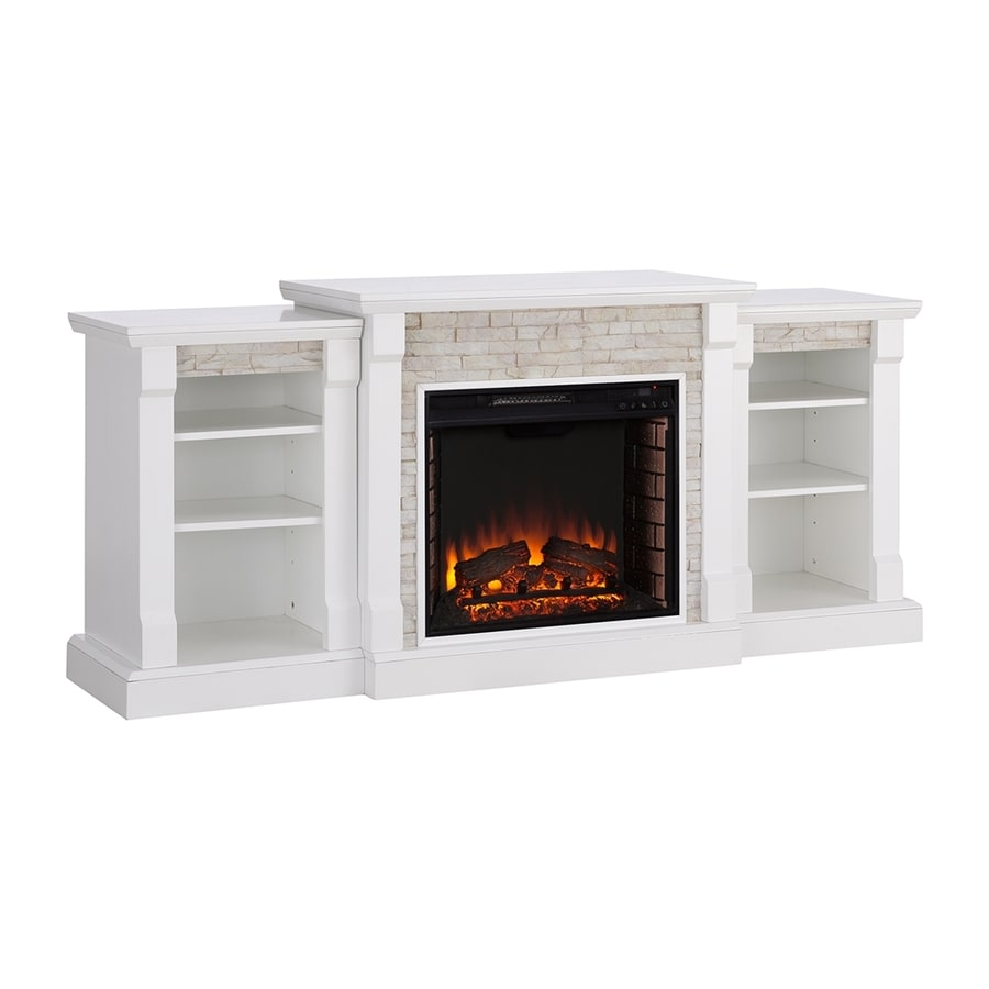 Boston Loft Furnishings 71.75-in W White Infrared Quartz Electric Fireplace with Thermostat and Remote Control