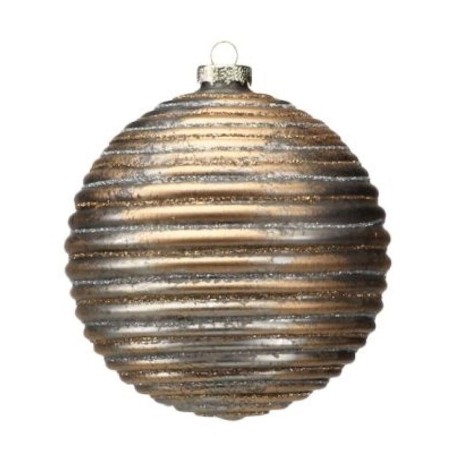Zodax 4-Pack Brown Ball Ornament Set
