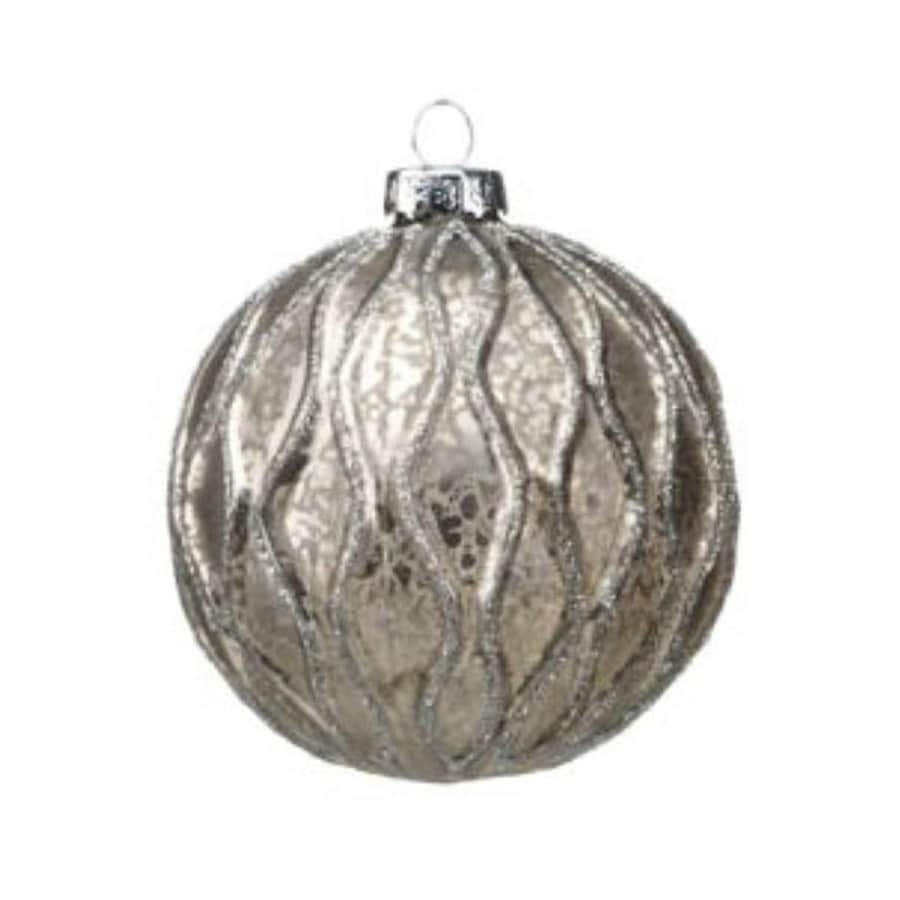 Zodax 6-Pack Gray Ball Ornament Set