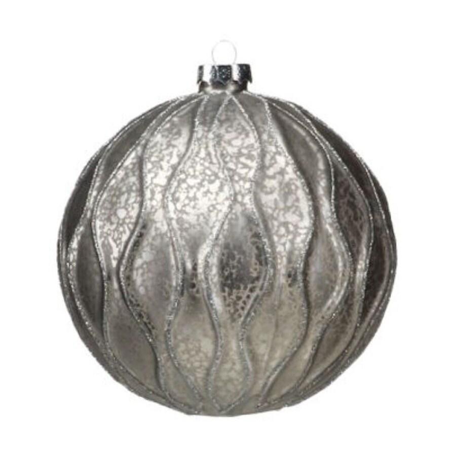 Zodax 4-Pack Gray Ball Ornament Set