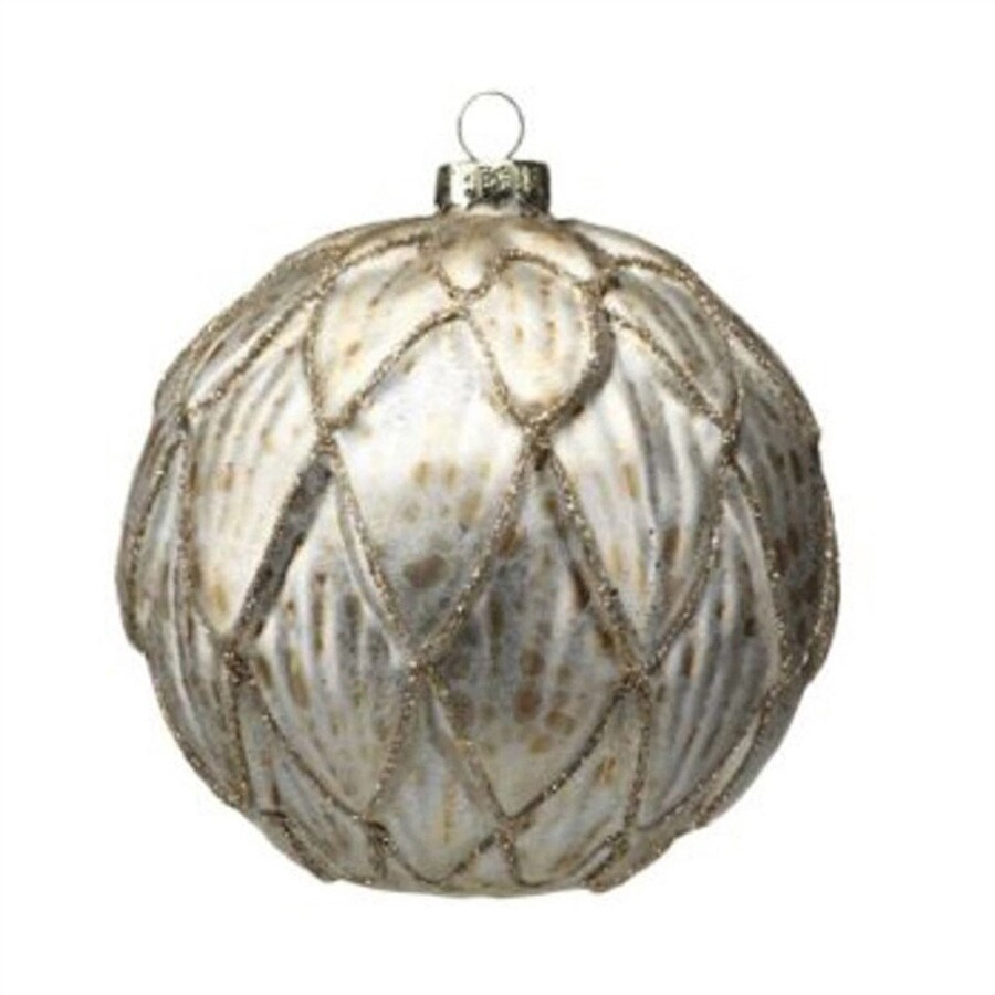 Zodax 6-Pack Antique Silver Ball Ornament Set