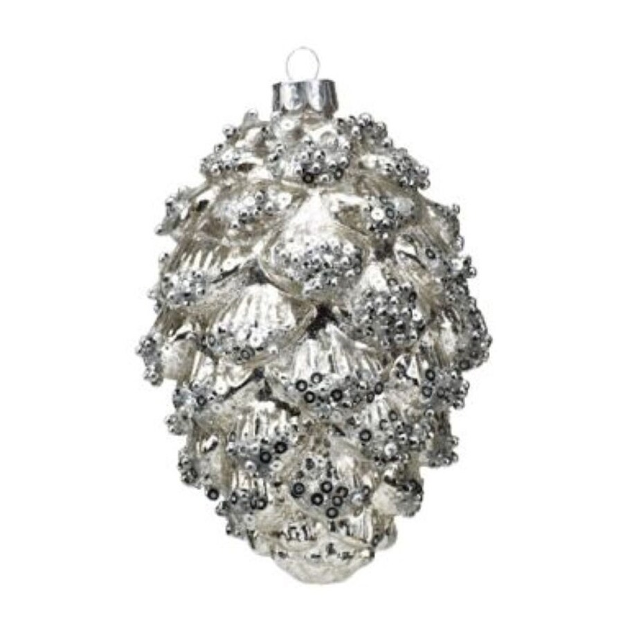 Zodax 6-Pack Silver Pinecone Ornament Set