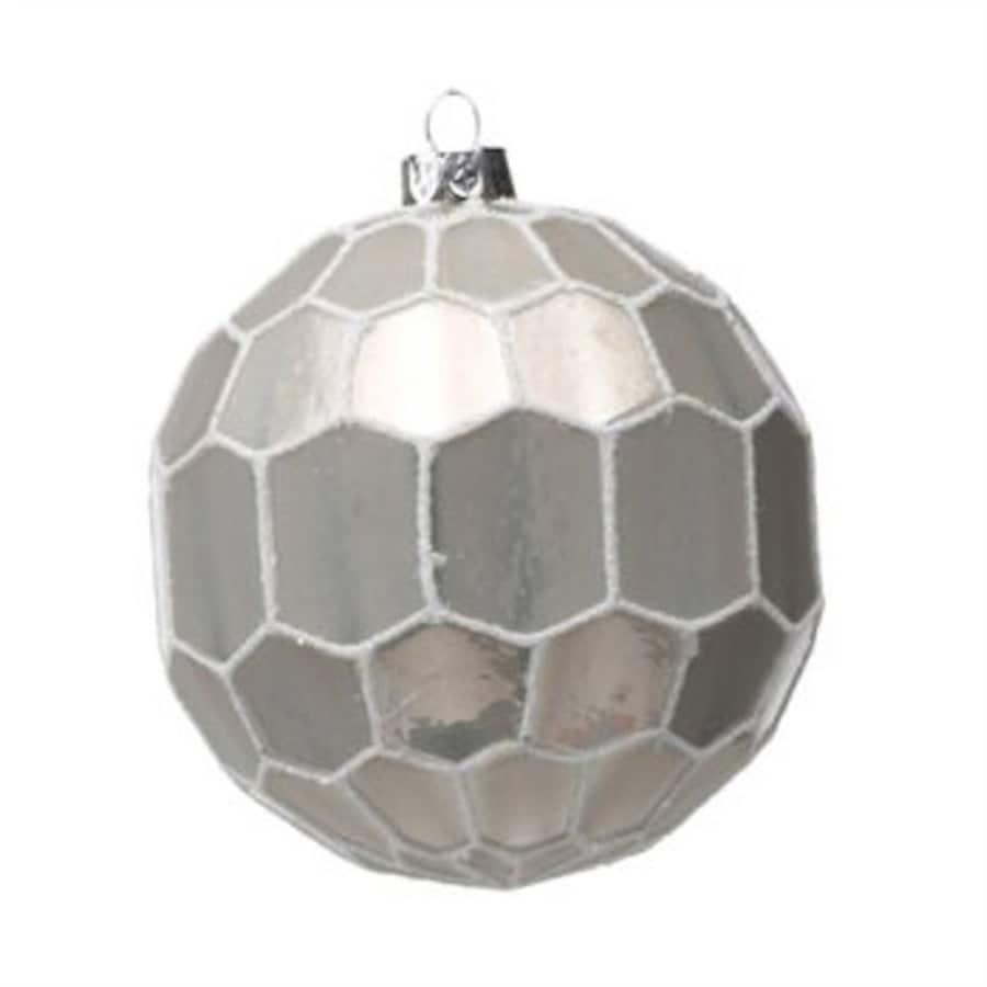 Zodax 6-Pack Light Gray Ball Ornament Set