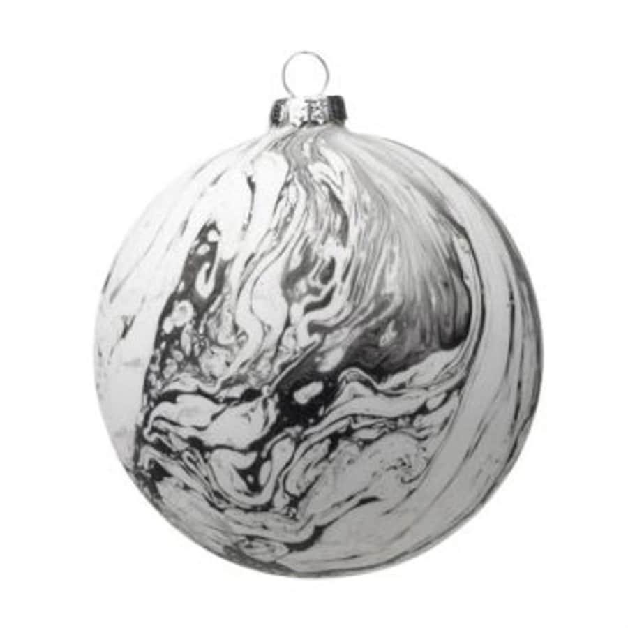 Zodax 6-Pack White/Gray Ball Ornament Set