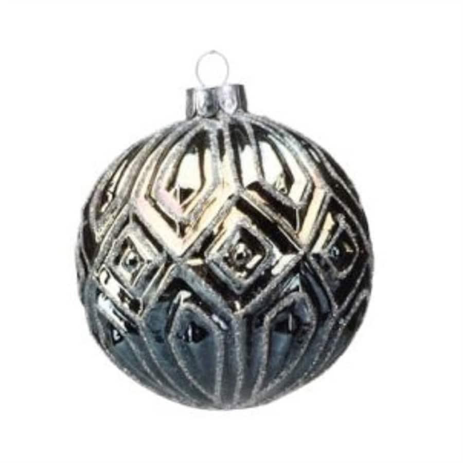Zodax 6-Pack Blue Ball Ornament Set