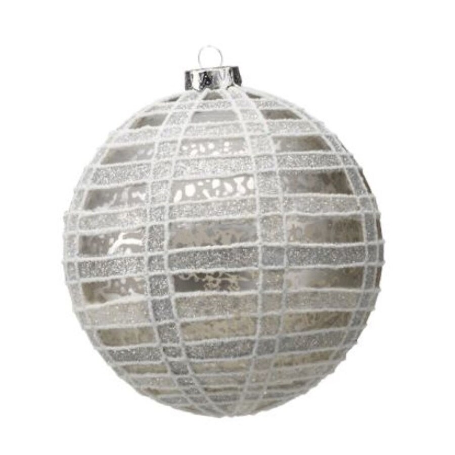 Zodax 4-Pack Silver Ball Ornament Set