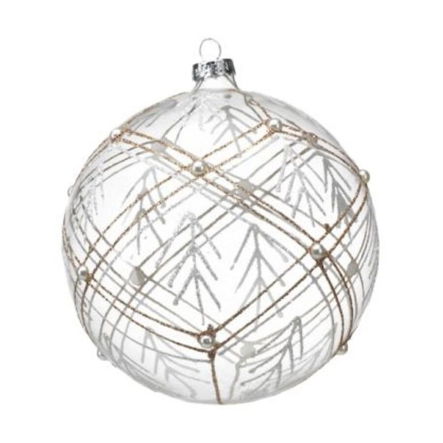 Zodax 4-Pack Gold/White Ball Ornament Set