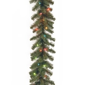 national tree company indooroutdoor pre lit 9 ft spruce garland with multicolor