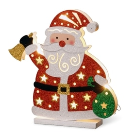 national lighted santa figurine with white led lights