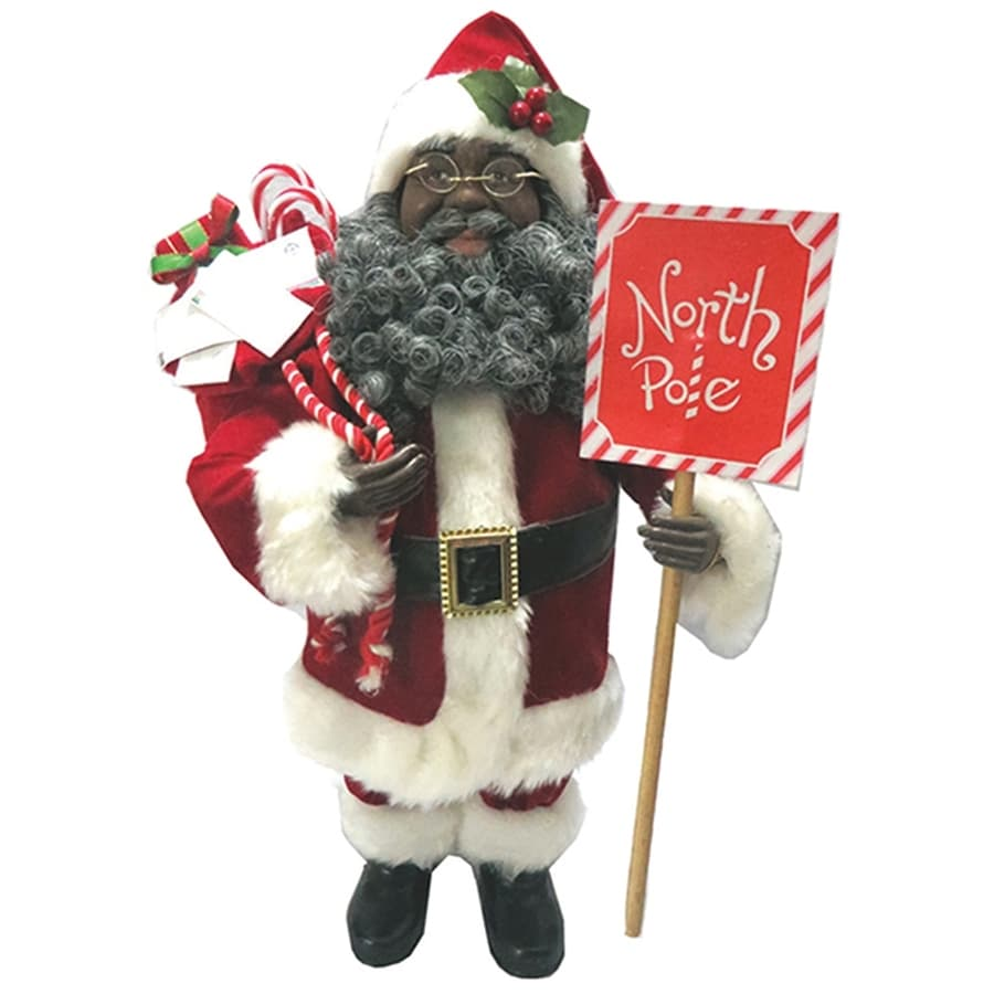 santas workshop red santa north pole tabletop decoration - North Pole Christmas Decorations