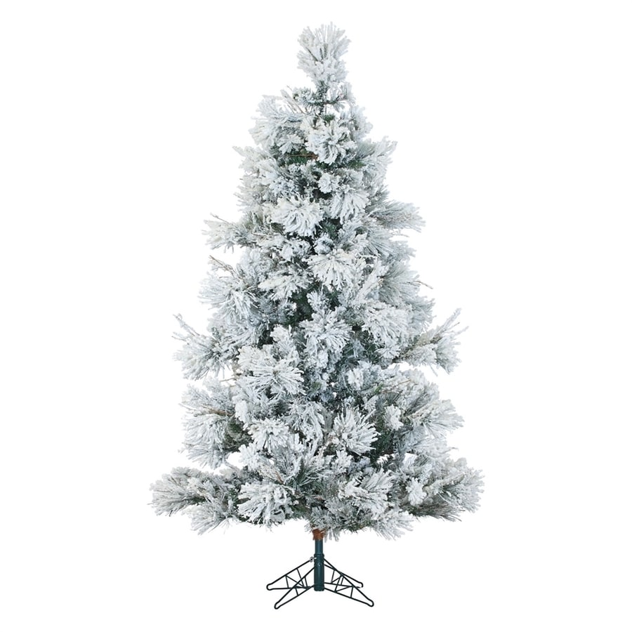 fraser hill farm 12 ft flocked artificial christmas tree with
