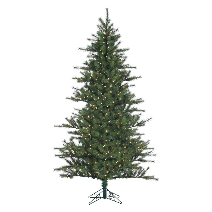Fraser Hill Farm 10-ft Pre-Lit Southern Pine Full Rightside-Up Artificial Christmas Tree with 1150 Constant White Clear LED Lights