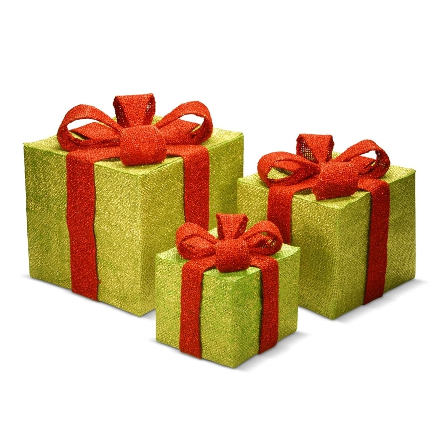 national tree company green gift box christmas gift decoration - Christmas Gift Box Decorations