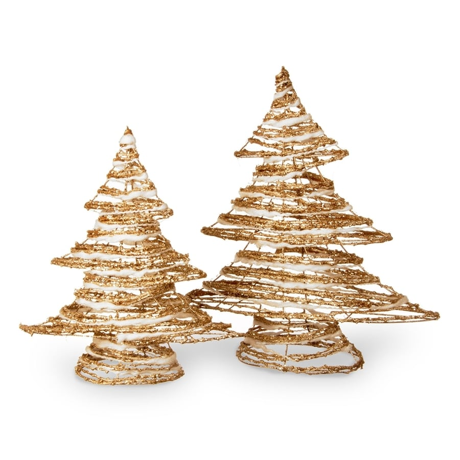 national tree company gold christmas tree set of 2 - When Was Christmas Declared A National Holiday